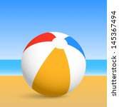 Beach Ball. Vector Illustration.