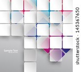 overlapping squares background | Shutterstock .eps vector #145367650