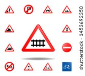 rail road icon. set of road... | Shutterstock .eps vector #1453692350