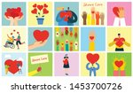 share your love. hands and... | Shutterstock .eps vector #1453700726