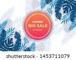 summer sale banner template....   Shutterstock .eps vector #1453711079