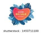 summer sale banner template....   Shutterstock .eps vector #1453711100