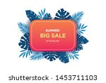summer sale banner template....   Shutterstock .eps vector #1453711103