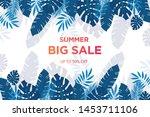 summer sale banner template....   Shutterstock .eps vector #1453711106