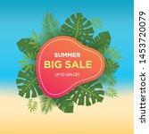 summer sale banner template....   Shutterstock .eps vector #1453720079