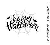happy halloween lettering ... | Shutterstock . vector #1453730240