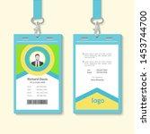 simple corporate office... | Shutterstock .eps vector #1453744700