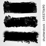 set of three black grunge... | Shutterstock . vector #145375690