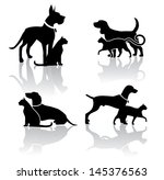 Stock vector vet pet icons symbols set eps vector grouped for easy editing no open shapes or paths 145376563