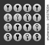 set of key icons | Shutterstock .eps vector #145378204
