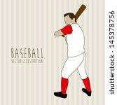 baseball design over lineal...   Shutterstock .eps vector #145378756