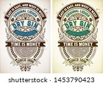 vintage gin label. vector... | Shutterstock .eps vector #1453790423