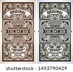 vintage gin label. vector... | Shutterstock .eps vector #1453790429