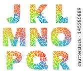 vector alphabet mosaic colorful ... | Shutterstock .eps vector #145380889