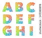 vector alphabet mosaic colorful ... | Shutterstock .eps vector #145380898
