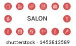 set of salon icons such as... | Shutterstock .eps vector #1453813589