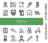 set of teeth icons such as... | Shutterstock .eps vector #1453813883