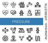 set of pressure icons such as...   Shutterstock .eps vector #1453815776
