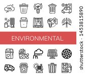 set of environmental icons such ... | Shutterstock .eps vector #1453815890