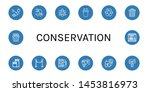 set of conservation icons such... | Shutterstock .eps vector #1453816973