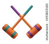 Croquet Crossed Mallet Icon....