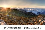 Sunrise On The Top Of Mountain...