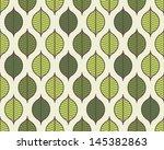 seamless stylized leaf pattern... | Shutterstock .eps vector #145382863