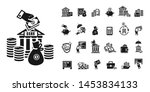 deposit icons set. simple set... | Shutterstock . vector #1453834133