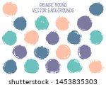 vector grunge circles isolated. ...   Shutterstock .eps vector #1453835303