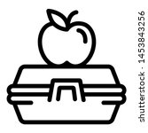 lunch box icon. outline...   Shutterstock . vector #1453843256
