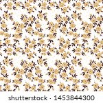 vintage floral background.... | Shutterstock .eps vector #1453844300