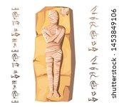 mummy creation cartoon vector... | Shutterstock .eps vector #1453849106