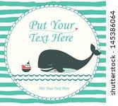 Nautical Cartoon Vector Card...