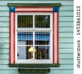 Rectangular Wooden Window With...