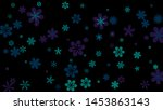 pretty floral pattern with... | Shutterstock .eps vector #1453863143