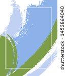vertical frame with paint brush ...   Shutterstock .eps vector #1453864040