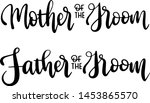 mother of the groom and father... | Shutterstock .eps vector #1453865570
