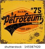 vintage gasoline   motor oil  ... | Shutterstock .eps vector #145387420