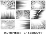 comic book radial and linear... | Shutterstock .eps vector #1453880069