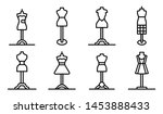 Mannequin Icons Set. Outline...