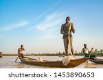 Nigerien Fishermen Fishing On...
