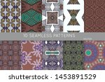 collection of seamless patterns.... | Shutterstock .eps vector #1453891529