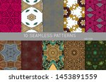collection of seamless patterns.... | Shutterstock .eps vector #1453891559