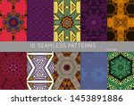 collection of seamless patterns.... | Shutterstock .eps vector #1453891886