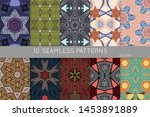 collection of seamless patterns.... | Shutterstock .eps vector #1453891889