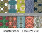 collection of seamless patterns.... | Shutterstock .eps vector #1453891910