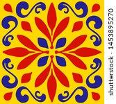 ceramic tile  portuguese tiles  ...   Shutterstock .eps vector #1453895270