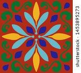 ceramic tile  portuguese tiles  ...   Shutterstock .eps vector #1453895273