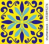 ceramic tile  portuguese tiles  ...   Shutterstock .eps vector #1453895276
