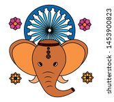 indian elephant ganesha with... | Shutterstock .eps vector #1453900823